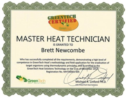 Heat certification certificate