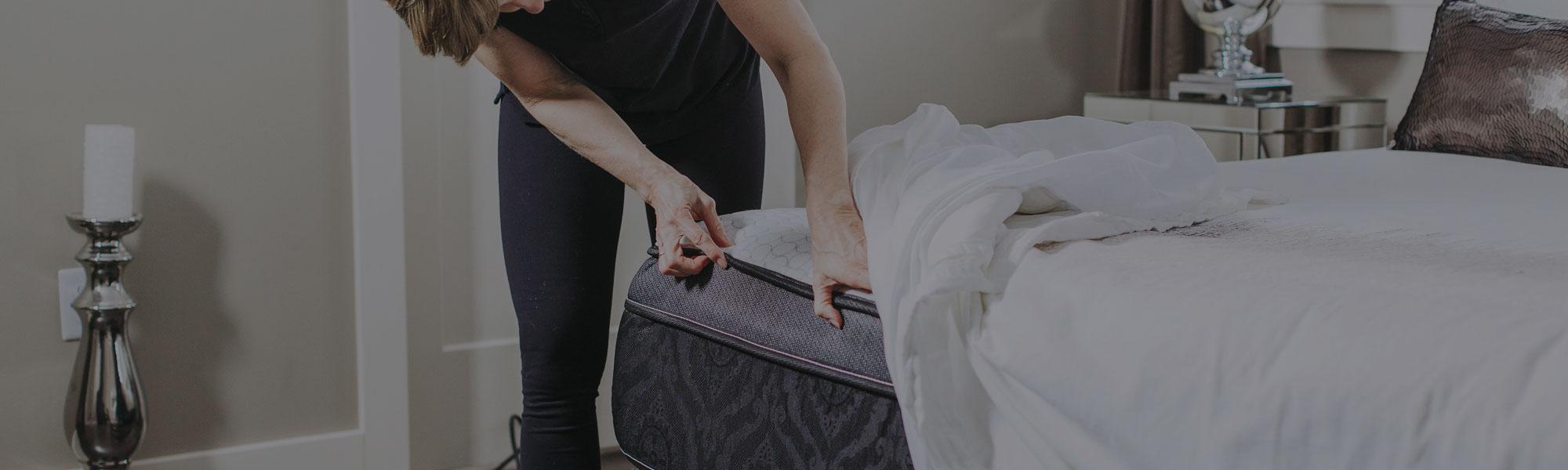 BBD team member inspecting a mattress